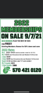 2022 Terra Greens Membership Flyer